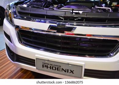 MANILA, PH - APR. 7: Chevrolet Trailblazer Phoenix sub urban vehicle at Manila International Auto Show on April 7, 2019 in World Trade Center, Manila, Philippines.