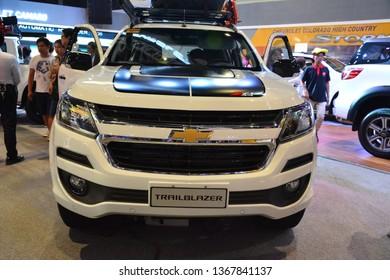 MANILA, PH - APR. 7: Chevrolet Trailblazer SUV at Manila International Auto Show on April 7, 2019 in World Trade Center, Manila, Philippines.