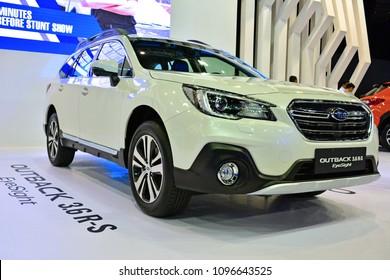 MANILA, PH - APR. 7: Subaru Outback SUV on April 7, 2018 in World Trade Center, Manila, Philippines. Manila International Auto Show is a automotive trade show organized in Manila, Philippines.