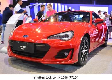 MANILA, PH - APR. 7: Subaru BRZ 2.0 AT sports car at Manila International Auto Show on April 7, 2019 in World Trade Center, Manila, Philippines.