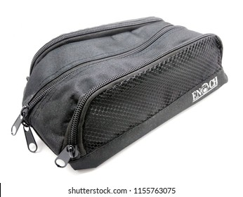 MANILA, PH - AUG. 13: Enoch shoe organizer bag on August 13, 2018 in Manila, Philippines. Enoch brand is a independent financial adviser in the Philippines.