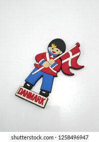 MANILA, PH - DEC. 15: Danmark refrigerator magnet on December 15, 2018 in Manila, Philippines. Danmark is a country in Europe continent.