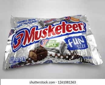 MANILA, PH - DEC. 18: 3 Musketeers chocolate on December 18, 2018 in Manila, Philippines. 3 Musketeers brand is a manufacturer of chocolate products in the USA.