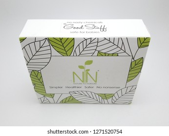 MANILA, PH - DEC. 23: Nature to Nurture box on December 23, 2018 in Manila, Philippines. Nature to Nurture brand is a manufacturer of baby solution products.