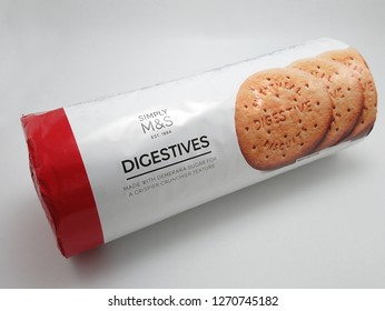 MANILA, PH - DEC. 26: Marks and Spencer digestives biscuits on December 26, 2018 in Manila, Philippines. Marks and Spencer brand is a manufacturer of clothing and food products.