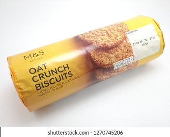 MANILA, PH - DEC. 26: Marks and Spencer oat crunch biscuits on December 26, 2018 in Manila, Philippines. Marks and Spencer brand is a manufacturer of clothing and food products.