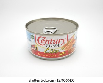 MANILA, PH - DEC. 29: Century Tuna lite hot and spicy on December 29, 2018 in Manila, Philippines. Century brand is a manufacturer of tuna products.
