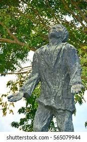 MANILA, PH - DEC. 29: Lorenzo Ruiz statue on December 29, 2016 in Roxas Boulevard, Manila, Philippines. Lorenzo Ruiz is a Filipino saint venerated in the Roman Catholic Church.