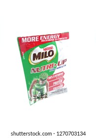 MANILA, PH - DEC. 29: Milo nutri up milk drink on December 29, 2018 in Manila, Philippines. Milo brand is a manufacturer of drink products.