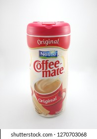 MANILA, PH - DEC. 29: Nestle Coffee Mate original creamer on December 29, 2018 in Manila, Philippines. Nestle brand is a manufacturer of food and drink products.