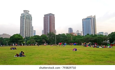 MANILA, PH - DEC. 29: Quirino Grandstand outdoor park on December 29, 2017 in Manila, Philippines. Quirino Grandstand, formerly known as the Independence Grandstand is located at Rizal Park.