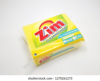 MANILA, PH - DEC. 29: Zim all purpose sponge on December 29, 2018 in Manila, Philippines. Zim brand is a manufacturer of cleaning pads products.