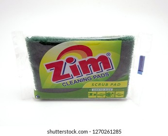 MANILA, PH - DEC. 29: Zim scrub pad on December 29, 2018 in Manila, Philippines. Zim brand is a manufacturer of scrub pad products.