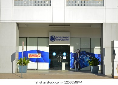 MANILA, PH - DEC. 8: SM Development Corporation office facade on December 8, 2018 in Manila, Philippines. SM Development Corporation is in the business of building of condominiums in Philippines.