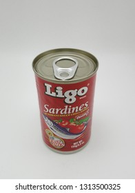 MANILA, PH - FEB. 11: Ligo sardines on February 11, 2019 in Manila, Philippines. Ligo brand is a maker of sardines