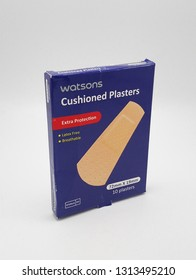 MANILA, PH - FEB. 11: Watsons cushioned plasters on February 11, 2019 in Manila, Philippines. Watsons brand is a seller of medical products.