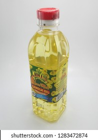 MANILA, PH - JAN. 14: Jolly canola oil on January 14, 2019 in Manila, Philippines. Jolly brand is a manufacturer of food products.