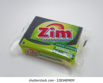 MANILA, PH - JAN. 14: Zim cleaning pads sponge on January 14, 2019 in Manila, Philippines. Zim brand is a manufacturer of sponge products