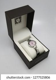 MANILA, PH - JAN. 8: Anne Klein wrist watch on January 8, 2019 in Manila, Philippines. Anne Klein brand is a manufacturer of ladies watch.