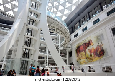 MANILA, PH - JUNE 24: National Museum of Natural History atrium on June 24, 2018 in Manila, Philippines. Natural History Museum houses the botany, geology, and zoology collections in the Philippines.