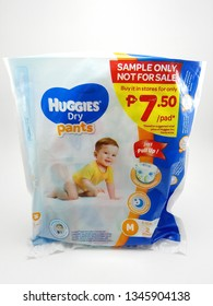 MANILA, PH - MAR. 20: Huggies dry pants medium size baby diaper on March 20, 2019 in Manila, Philippines.