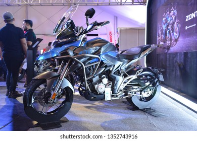 MANILA, PH - MAR. 24: Zontes Adv motorcycle at Inside Racing Bike Festival & Trade Show 2019 on March 24, 2019 in Manila, Philippines.