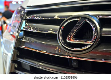 MANILA, PH - MAY 19: Lexus car emblem at Trans Sport Show on May 19, 2018 in Manila, Philippines. Trans Sport Show is the Philippines longest running motoring event.