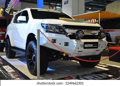 MANILA, PH - NOV. 30: Chevrolet Trailblazer sub urban vehicle on November 30, 2018 at Manila Auto Salon in Manila, Philippines. Manila Auto Salon is a aftermarket car show in Philippines.