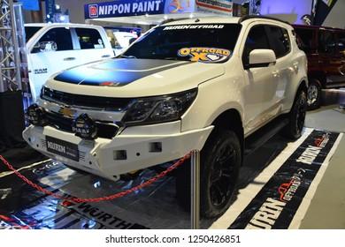 MANILA, PH - NOV. 30: Chevrolet Trailblazer on November 30, 2018 at Manila Auto Salon in Manila, Philippines. Manila Auto Salon is a aftermarket car show in Philippines.