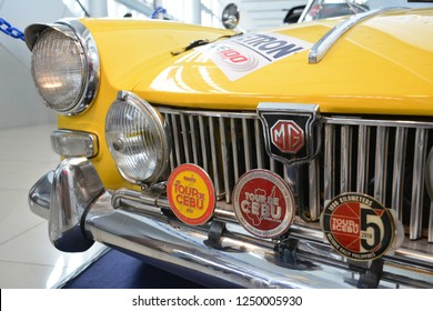 MANILA, PH - NOV. 30: Vintage car Morris Garage Midget convertible on November 30, 2018 at Manila Auto Salon in Manila, Philippines. Manila Auto Salon is a aftermarket car show in Philippines.