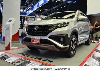 MANILA, PH - OCT. 27: Toyota Rush SUV at Philippine International Motor Show on October 27, 2018 in Manila, Philippines. Philippine International Motor Show is a showcase of latest cars.