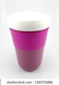 MANILA, PH - SEPT 20: Zoku slush and shake maker cup on September 20, 2018 in Manila, Philippines. Zoku brand is a manufacturer of slush and shake maker product.