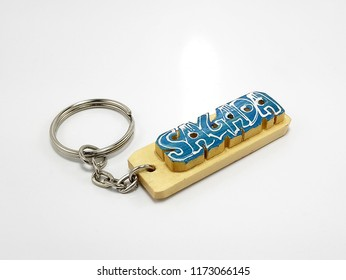 MANILA, PH - SEPT. 6: Sagada key chain on September 6, 2018 in Manila, Philippines. Sagada is a town in the Cordillera Mountains, within the Philippines' Mountain Province.