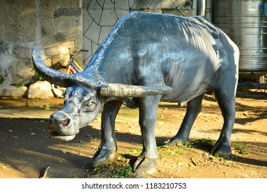 MANILA, PH - SEPT. 8: Carabao replica statue at Children's Playground on September 8, 2018 in Manila, Philippines. Children's Playground is a public play park for kids in the Philippines.