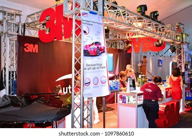 MANILA, PH-APR. 7: 3M Crystalline exhibit booth on April 7, 2018 in World Trade Center, Manila, Philippines. Manila International Auto Show is a automotive trade show organized in Manila, Philippines.