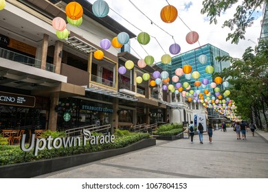 Manila Philippines - Apr 9,2018 Lantern decoration at Uptown mall in Fort Bonifacio