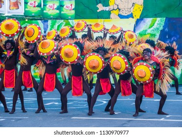 MANILA , PHILIPPINES - APRIL 27 :Participants in the Aliwan fiesta in Manila Philippines on April 27 2018. Aliwan is an annual event that gathers different cultural festivals of the Philippines