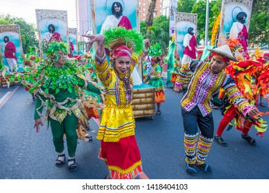 MANILA , PHILIPPINES - APRIL 27 :Participants in the Aliwan fiesta in Manila Philippines on April 27 2019. Aliwan is an annual event that gathers different cultural festivals of the Philippines