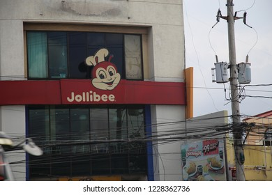 Manila, Philippines - August 1, 2017: Exterior of Jollibee Franchise