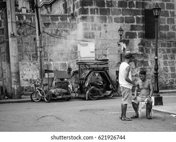 Manila, Philippines - Circa January 2017 - Street photography session in Manila