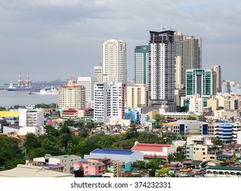 Manila, Philippines - Dec 20, 2015. Many tall buildings located in Manila downtown, Philippines. Manila is the second most populous city in the Philippines with a population of 1,652,171.