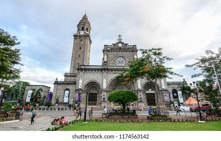 Manila, Philippines - Dec 21, 2015. Manila Cathedral at Intramuros District. The cathedral was officially established in 1571.