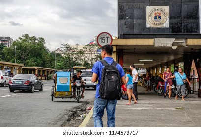 Manila, Philippines - Dec 21, 2015. Street of Manila, Philippines. Manila is the center of culture economy education and government of the Philippines.