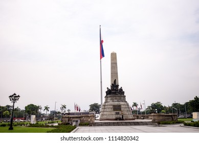 Manila, Philippines - December 01, 2015, The Rizal Monument is a memorial in Rizal Park in Manila, Philippines built to commemorate the executed Filipino nationalist, José Rizal.