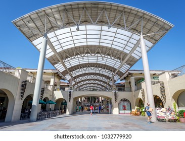 Manila, Philippines - Feb 24, 2018 : Building of Alabang town center in Manila city
