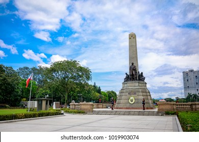 Manila, Philippines - Feb 4, 2018 : Monument in memory of Jose Rizal(National hero) at Rizal park in Metro Manila
