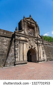 Manila / Philippines - February 2019: Fort Santiago is a citadel first built by Spanish conquistador, Miguel López de Legazpi for the new established city of Manila in the Philippines.