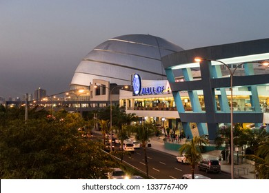 MANILA, PHILIPPINES - FEBRUARY 24, 2019: SM Mall of Asia (MOA) is a 2nd largest mall in the Philippines in Manila, Philippines. It has a land area of 42 hectares.
