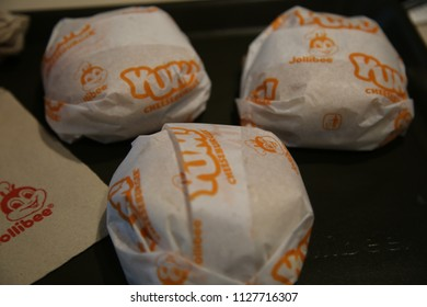 Manila, Philippines - January 30, 2018: Jollibees Cheeseburgers