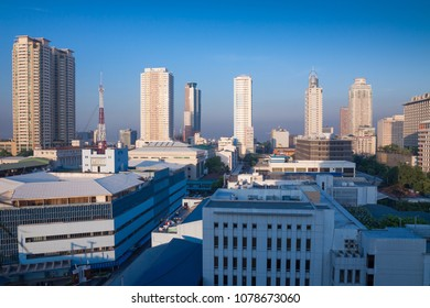 MANILA, PHILIPPINES - MAY 1, 2012: Cityscape of downtown in Manila, early morning